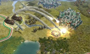 Screenshot of Civ 5 Combat